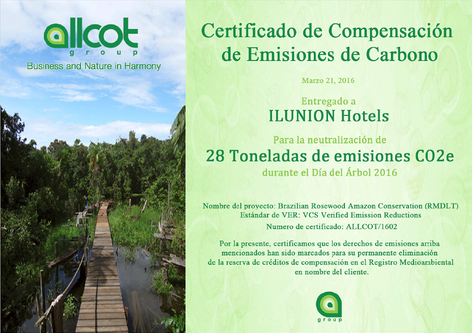 ILUNION HOTELS OFFSET EMISSIONS PRODUCED BY DIFFERENT HOTELS IN THE CHAIN DURING TREE DAY IN SPAIN